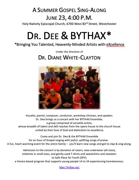 Dr. Dee & BYTHAX, June 23rd